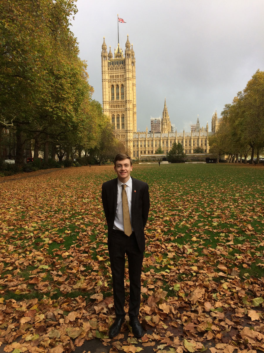 Luke Moynan Liskeard Sixth Form House Of Commons 2