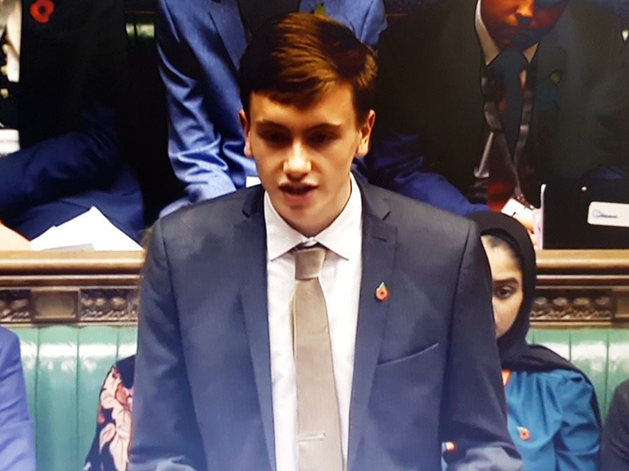 Luke Moynan Liskeard Sixth Form House Of Commons