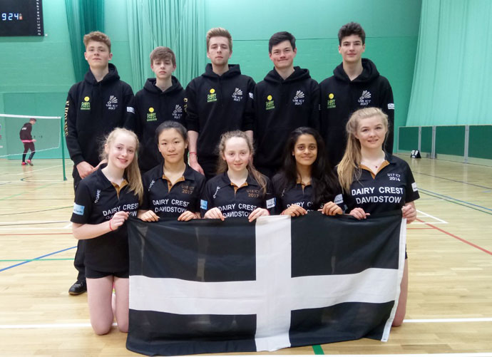 Cornwall U18 Badminton Team