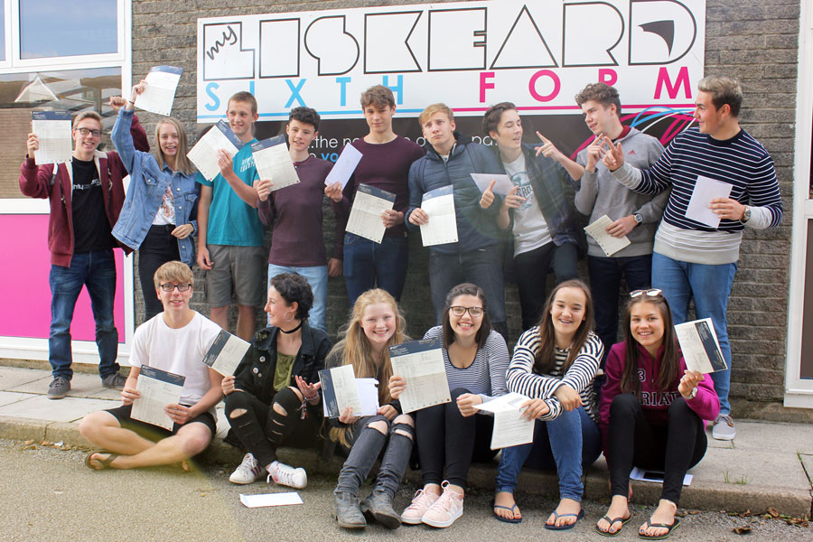 Liskeard School GCSE Results Day 2017 1